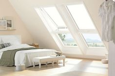 Find loft conversion companies fast and compare cost of loft conversions inc dormer, mansard, velux and hipped. Save plus on loft conversion costs. Attic Loft, Loft Room, Bedroom Loft, Home Bedroom, Attic Office, Attic Playroom, Airy Bedroom, Attic Library, Light Bedroom