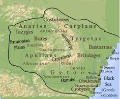 In ancient geography, especially in Roman sources, Dacia (/ˈdeɪʃiə, -ʃə/) was the land inhabited by the Dacians. The Greeks referred to them as the Getae, which were specifically a branch of the Thracians north of the Haemus Mons (the Balkan Mountains). European Tribes, European Languages, History Page, History Facts, History Of Romania, Liberia Africa, Romania Map, Visual Map, Classical Greece