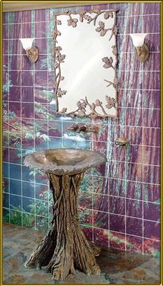 Jaw-Dropping Cool Ideas: Organic Home Decor Rustic Decoration natural home decor ideas bathroom.Organic Home Decor Boho Chic Rugs natural home decor diy awesome.Natural Home Decor Boho Chic. Feng Shui, Bathroom Sink Design, Oak Bathroom, Bathroom Colors, Bathroom Designs, Nature Bathroom, Mermaid Bathroom Decor, Bathroom Interior, Modern Bathroom