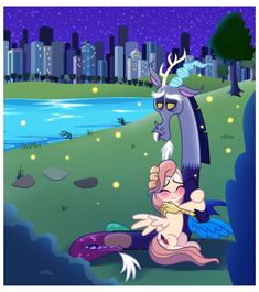 Everthing is fine. by EStories on DeviantArt Escape Plan, Creature Drawings, Pegasus, Discord, My Little Pony, Pond, Hug, Finding Yourself, Alice