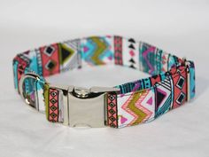 Aztec Dog Collar - Small by mileyandmoscow on Etsy