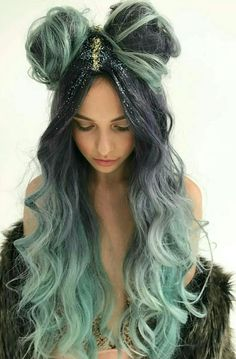 Looking for hair inspiration, color ideas such as mermaid hair, rainbow hair color, pastel hair color ideas you cant help but love how cute Pastel Hair, Ombre Hair, Cool Hair Color, Hair Colour, Rainbow Hair, Crazy Hair, Pretty Hairstyles, Hairstyle Ideas, Thin Hairstyles