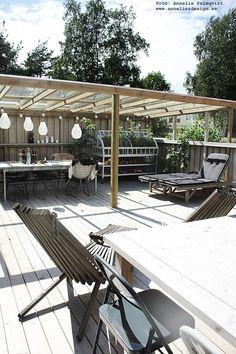 Pergola For Small Patio Patio Roof, Pergola Patio, Backyard Landscaping, Gazebo, Outdoor Dining, Outdoor Spaces, Outdoor Decor, Shade Structure, Wooden Decks