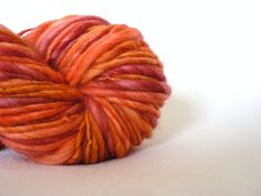 Handspun Superwash Merino Art Yarn Hand Dyed by TailsandSnouts