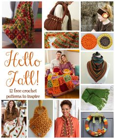 C. Fiber Flux: Hello Fall! 12 Free Crochet Patterns To Inspire...some beautiful creations here.