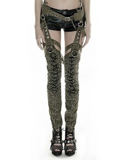 Punkrave Steampunk Women's Rivets Old Military Uniform Look Pants Post Apocalyptic Costume, Raver Girl, Modelista, Cute Pants, Punk Rave, Gothic Fashion, Bohemian Fashion, Period Outfit, Steampunk Clothing