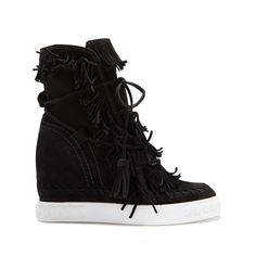 Casadei Sneakers ($950) ❤ liked on Polyvore featuring shoes, sneakers, black, black hidden wedge sneakers, black suede sneakers, black shoes, casadei sneakers and casadei shoes