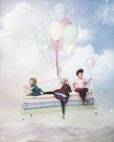 kiko, traum, fliegen, ballons