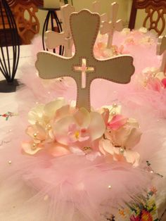 Baptism table centerpiece