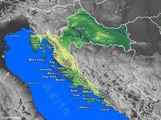 Karten, Landkarte, Maps und Routenplaner für den Urlaub in , , Kroatien