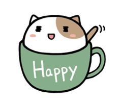 This is a cute cat sticker of entering into the tea cup. This is a cute cat sticker of entering into the tea cup. 365 Kawaii, Kawaii Cat, Kawaii Chibi, Cute Chibi, Kawaii Anime, Teacup Cats, Chibi Cat, Cat Emoji, Cute Kawaii Drawings