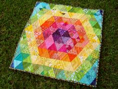 beautiful patchwork prism quilt, ill have to make one of these!!  by Marci girl.
