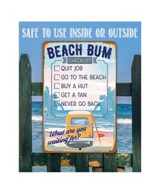 Surfer Decor, Tomball Texas, Pool Rules, Shed Signs, Quitting Job, Creative Connections, Command Strips, Beach Signs, Aluminum Metal
