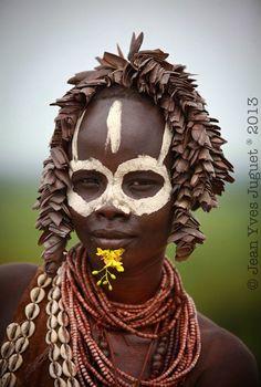 Africa | Karo girl.  Omo Valley, Ethiopia | ©Jean Yves Juguet.