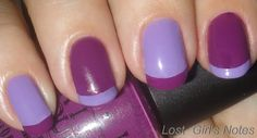 Image detail for -Bright Colorblock French manicure ~ Lost Girls Notes