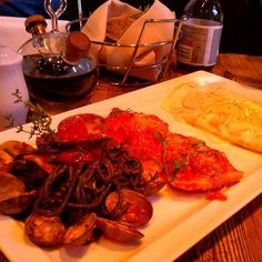 Italian - Zio Cecio. Just tried their Mezzeluna Alla Fonduta Di Pistacchio - Ravioli filled with seafood and Ricotta in a pistachio cream sauce. Also Neri Alle Vongole - Squid ink infused spaghetti with fresh clams. Excellent.