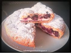 Babettes gæstebud.: Crumbled tart with ricotta cheese and blackberries...