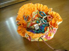 10 inch Travel Jewlery Bag by kaysstitchins on Etsy, $10.00