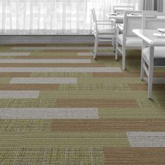 Interface Floor Design          | WW895: Glen Weave, WW880: Sisal Loom,  WW870: Linen Weft, WW865: Glen Warp |          Find inspiration for your next interior design project with floors composed of modular carpet tiles from Interface