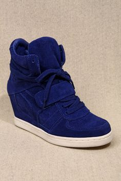 7b221b677504 Ash Cobalt Suede Wedge Trainers Urban Outfitters Women