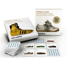 Eternal Fame - Adidas Memo Game by Himmelspach Publishing - is probably the most difficult (and coolest) memo game of all times... and THE ultimate collector's item for all sport shoes and sneaker fans!    All three versions are now available @ charlesandmarie.com