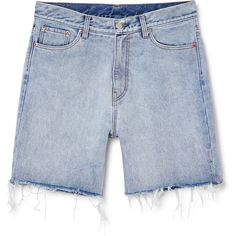 Love shorts Blue beat ❤ liked on Polyvore featuring shorts, loose shorts, blue shorts, relaxed shorts, loose fit shorts and relaxed fit shorts
