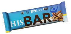 HIS Bar 10 Pack - Chocolate Almond image  HIS Bar combines 100% Certified Organic, Non-GMO, Gluten-Free, and Kosher Super Foods to support extended energy and improve prostate and cholesterol health. This uniquely designed snack food provides men a quick, easy and convenient fuel source to meet their individual needs and tastes amazing!