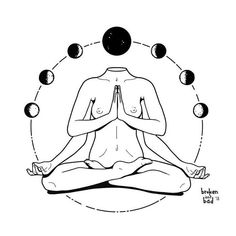 New yoga ilustration design ideas ideas Sous Bock, Meditation Art, Meditation Tattoo, Desenho Tattoo, Body Art Tattoos, Art Inspo, Line Art, Art Projects, Art Drawings