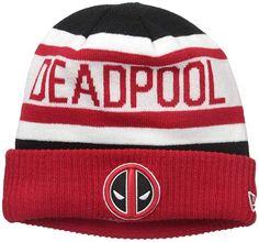 af2d7d295518c9 Amazon.com - Marvel Men's Biggest Fan 2.0 Deadpool Knit Beanie, Red, One  Size
