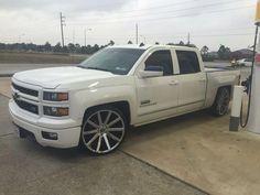 Dropped Silverado Crew Cab, 2014 Chevrolet Silverado 1500, Chevy Silverado, Bagged Trucks, Lowered Trucks, Gm Trucks, Custom Pickup Trucks, Ford Pickup Trucks, Chevy Trucks