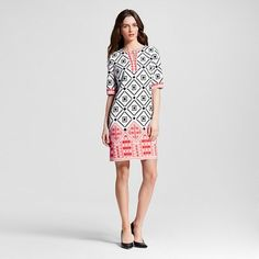Women's Placed Print Shift Dress - Studio One : Target