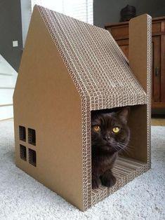 Как сделать домик для кота своими руками: 13 идей