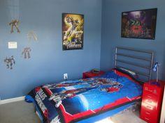 Transformers kids bedroom wall color