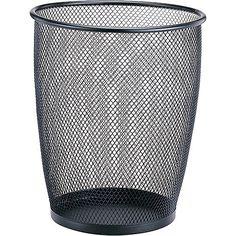Black Mesh Wastebasket, Jumbo. $11.97
