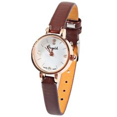 abcf8c7097c Wholesale Quartz Watch with Diamond Dots and Strips Indicate Leather Watch  Band for Women (Coffee) (COFFEE)