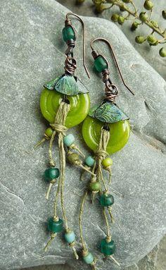 Earrings Everyday: Little Green Things