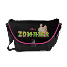 Bring the cast of the Disney Channel Original Movie ZOMBIES alive with this customizable messenger bag featuring Addison, and Zed.
