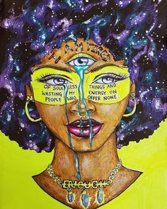 Illustrated by: Alexisrakun Black Love Art, Black Girl Art, Art Girl, Black Girls, Black Art Painting, Black Artwork, Black Art Pictures, Witch Art, Afro Art