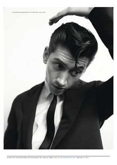 Another Man S/S 13 Cover with Arctic Monkeys frontman Alex Turner
