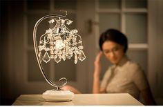 简约现代水晶欧式台灯创意卧室床头灯触摸可调光台灯结婚礼物礼品-淘宝网