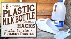 ★ 6 Plastic Milk Bottle Hacks (Simple, Useful & Free Gardening Tools) In Today's Project Diary Video I will show you 6 great life hacks and ways to reuse, re. Diy Storage Rack, Garden Tool Storage, Garden Tool Set, Garden Ideas, Garden Projects, Plastic Milk Bottles, Milk Jugs, Recycled Bottles, Black Spot On Roses
