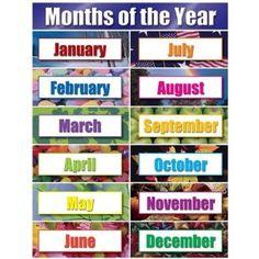 Imprima e estude os meses de cada ano - Inglês e Português