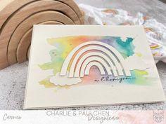 #charlieundpaulchendesignteam #charlieundpaulchen #herzepuenktchen #regenbogen #watercolorbeginner #background #kartenbasteln #kartengestalten #kartenmacherei