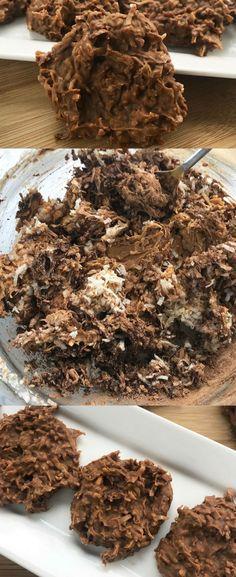 The Best Keto No Bake Cookies - No Bake Keto Cookies - Keto Peanut Butter Coconut No Bake Cookies