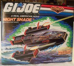 "Rare Vintage G.I. Joe 3 3/4"" Night Force Night Shade NIB 1988. $137.00, via Etsy. #gijoe #vintage #nightshade"