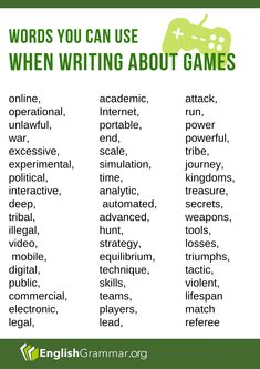 Words you can use when writing about GAMES Writing Words, Writing Tips, English Words, English Grammar, Grammar Rules, Sign Off, Online Games, Life Skills, Content Marketing