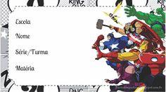 Etiqueta Escolar - Meninos - Mimeria Comic Books, Headbands, Sd, Avengers, Frames, Boys, Drawings, Plan Of Salvation, Girls