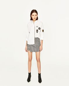 ZARA - WOMAN - OVERSIZED SHIRT WITH PATCHES