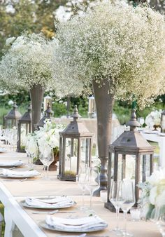 elegant babys breath wedding centerpieces - brides of adelaide
