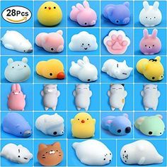 Mochi Squishy Toys 28 Pcs Kawaii Squishies Mini Animals Stress Toys Cute Squi... - $21.32 - $21.32